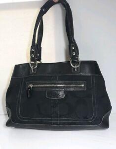 100-AUTHENTIC-COACH-PENELOPE-SIGNATURE-BLACK-SHOULDER-BAG-14422
