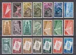 SPAIN-ANO-1956-NUEVO-MNH-ESPANA-EDIFIL-1185-1205-COMPLETO-SIN-FIJASELLOS