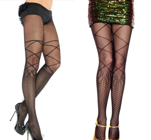 016b343a7aa5d Ladies Patterned Net Pantyhose With Faux Leg Wrap Exotic Apparel Sexy High  Waist
