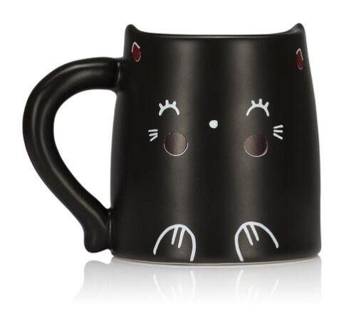 Kaffeetasse Thermoeffekt Katze farbwechselnde Wangen Tasse Becher Kaffeebecher