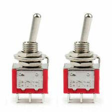 2pcs Mini 6mm Mts 202 Toggle Switch 6 Pin 2 Position Onon 5a125vac Us