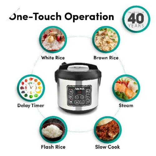Slow Cooker, Aroma Housewares 20 Cup Cooked 10 cup uncooked Digital Rice Cooker