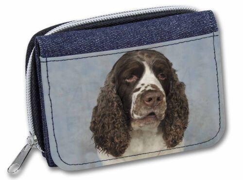 Springer Spaniel Dog Girls//Ladies Denim Purse Wallet Christmas Gift Id AD-SS9JW