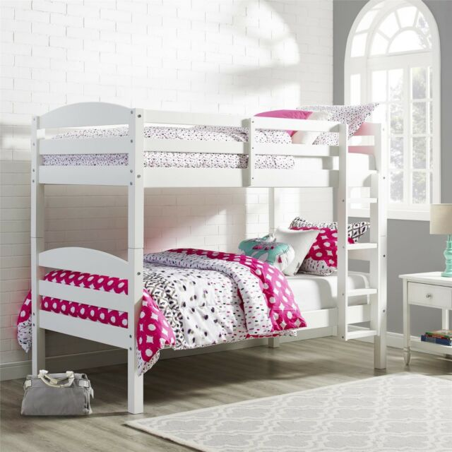 Bunk Beds For Kids Twin Over Twin Wood Bunked Bed Frame Kid Bedroom  Furniture