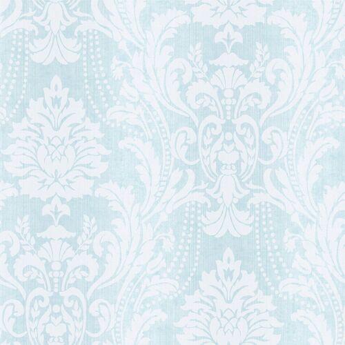 HOLDEN DECOR Rosemoor Cottage Dana Bleu Damassé Motif Papier Peint 98760