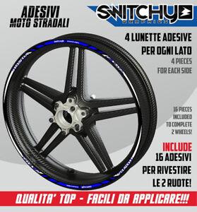 Adesivi moto SUZUKI GSX-R-strisce RACING4 cerchi ruote wheels stickers