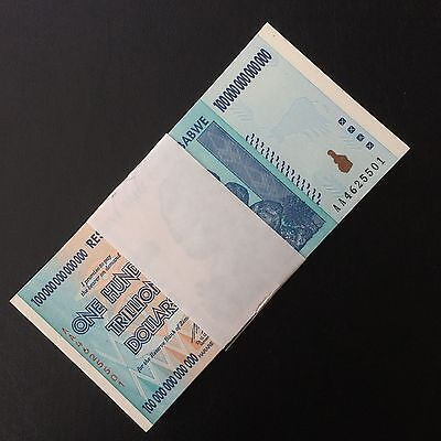 Full Bundle 100 PCS, Zimbabwe 100 Trillion Dollars, 2008 AA Series, P-91, UNC