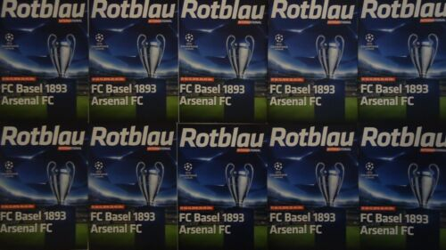 10 x official Programme UCL 201617 FC Basel vs Arsenal FC