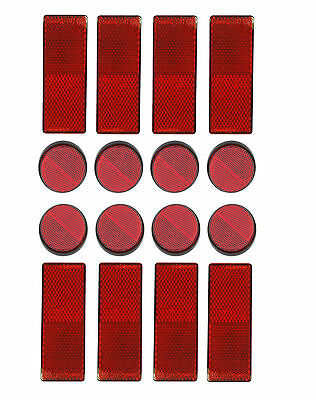 Cycle Bike Bicycle Light Reflective Red Strips Stick On Self Adhesive Reflector Hochglanzpoliert