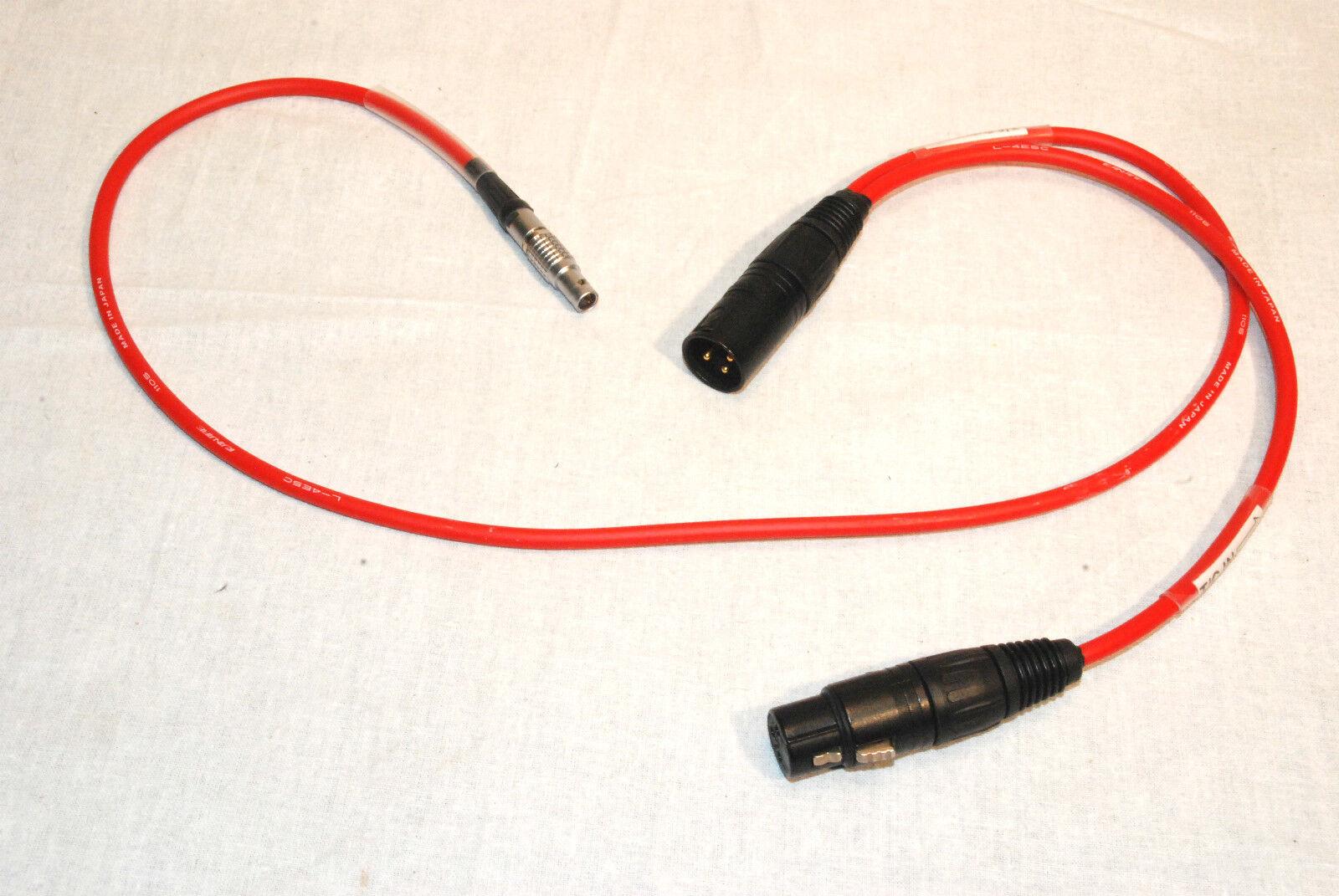 TIME CODE INPUT OUTPUT CABLE SOUND DEVICES ZAXCOM DENECKE LEMO 5 PIN TO XLR3'S