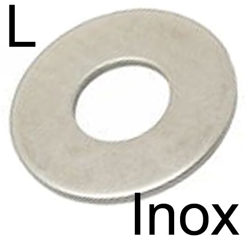 RONDELLE plate L large INOX A2 M10 8