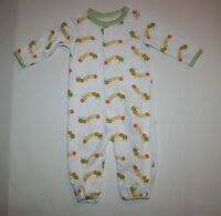 Gymboree Convertable Gown Pjs Happy Catapillar Size 0-3m Brand Baby