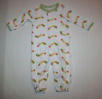 Gymboree Convertable Gown Pjs Happy Catapillar Size 3-6m Brand Baby