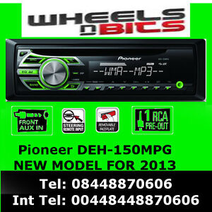 Pioneer deh 150mpg cd mp3 wma aux in steering control ready green image is loading pioneer deh 150mpg cd mp3 wma aux in publicscrutiny Images