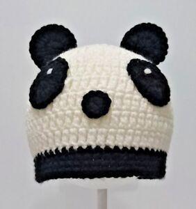 Cute Toddler Kids Girl/&Boy Crochet Knit beanie cap BABY Panda bear costume