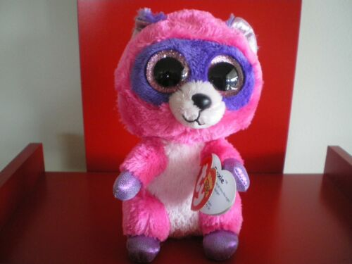 JUST ARRIVED IN STOCK NOW Ty Beanie Boos ROXIE racoon 6 inch NWMT