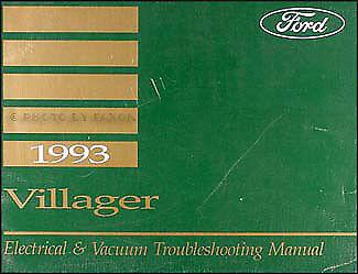 1993 Mercury Villager Van Electrical and Vacuum Troubleshooting Manual 93 OEM