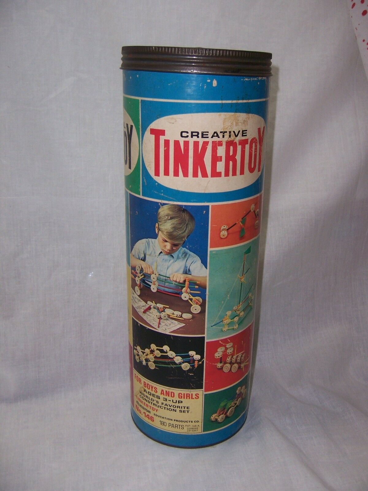 Vintage Tinker Toy Tinkertoy Set NO. 146  Boys Girls Construction Set
