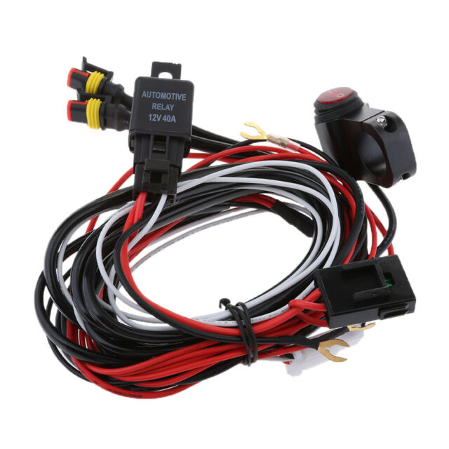 Universal Led Fog Light Wiring Harness Mounting Fuse