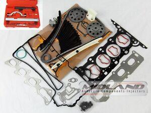 Corsa-C-amp-D-1-2-Motor-16v-Kit-de-la-cadena-de-distribucion-cabeza-junta-conjunto-Pernos-Cabeza-Kit