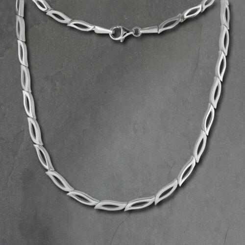 SilberDream 45cm Collier Kette Blütenblatt matt Silber Damen Schmuck SDK428