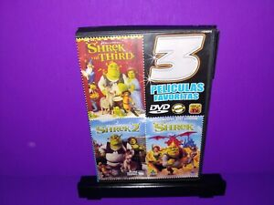 Shrek Shrek 2 Shrek The Third Spanish Language Dvd Region 1 B454 Ebay