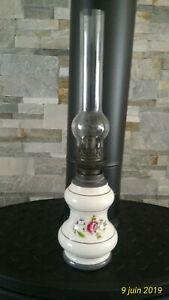2 VERRES DE LAMPE PIROUETT BLANC OPALINE pour PETITE lampe DOS voir photo