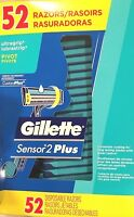 Men's Gillette Sensor2 Custom Plus Disposable Razor W/lubrastrip,52 Ct, Freeship