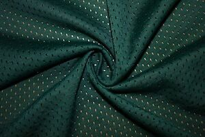 Forest-Green-Athletic-Sports-Mesh-Knit-Polyester-Football-Jersey-Fabric-BTY