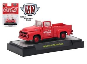 1-64-M2-Machines-COCA-COLA-COKE-HOBBY-RW02-CHASE-1956-Ford-F-100-Pickup-Truck