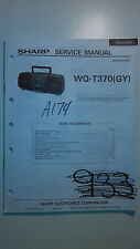 sharp wq-t370 service manual original repair book boombox ghettoblaster radio cd