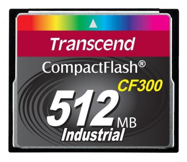 512 Mo Carte Cf Transcend Haut Débit De Qualité Industrielle Cf 300x Slc