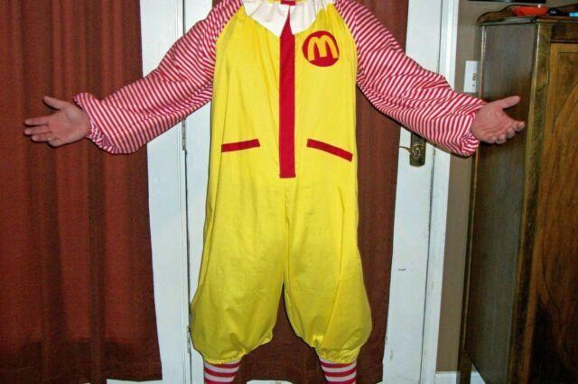 Brand New McDonald/'s Ronald McDonald Inspired Kreepy Killer Clown Adult Costume