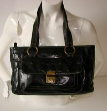 Tula Black Genuine/Real Leather Handbag/Shoulder Bag