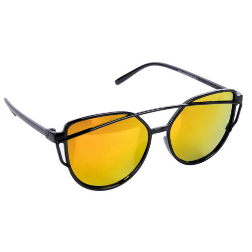 Damen Herren Katzenauge Cateye Sonnenbrille Verspiegelt Retro Brillen Sunglasses