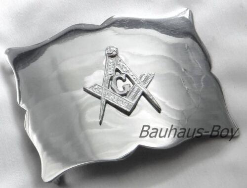Kilt ceinture noir maçonnique en cuir estampé à Boucle Tailles petit to XX-Large