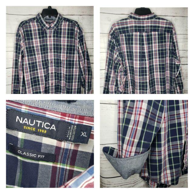 Nautica Mens Classic Fit 100/% Cotton Plaid Short