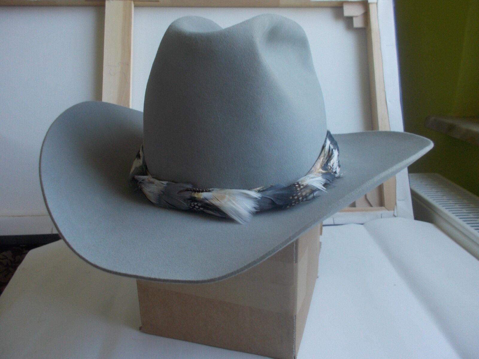 LUSKEY's Cowboy Hat, Rancher Supreme grau VGC Größe 58 59cm