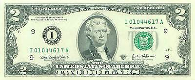 $2 Federal Reserve Note Two Dollar Bill 2003 series A I//A MINNEAPOLIS