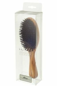Hydrea London Worbc1 Olive Wood Cushion Hair Brush With