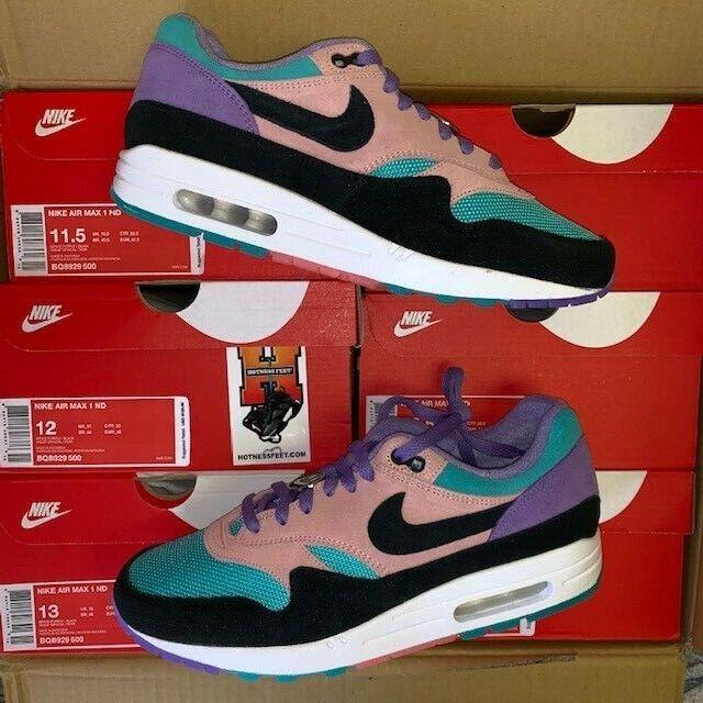 Nike Air Max 1 ND Have A Nike Day Purple Blue Coral BQ8929 500 GS Men 4Y 12 | eBay