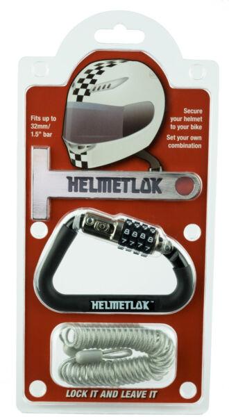 100% Waar Motorcycle Helmet Combination Karabiner Lock Key Free Helmetlok T Bar & Cable