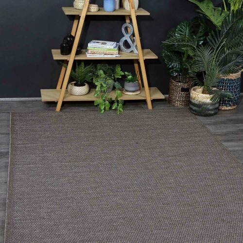 6 Sizes *FREE DELIVERY Silfra Brown Indoor Outdoor Simple Modern Floor Rug