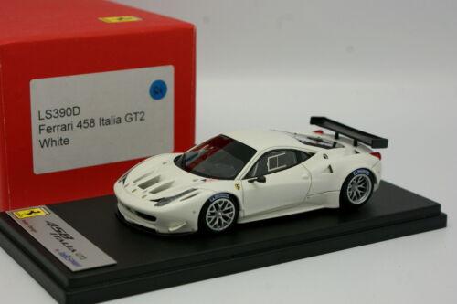 Looksmart 1/43 - Ferrari 458 Italia Gt2 Blanche