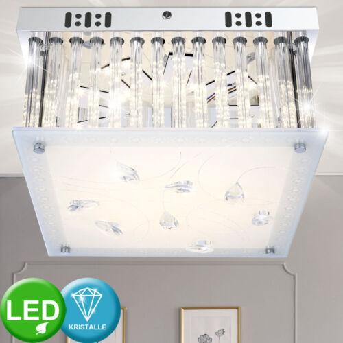Luxus LED Decken Leuchte Esszimmer Strahler Glas Stäbe Kristall Behang Lampe