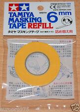 Tamiya 87033 Masking Tape Refill 6mm Width, 18m Length, for RC Body Shells, NIP