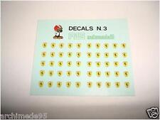 DECALS 1/43 SCUDETTI FERRARI
