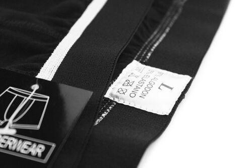 G222 Mens Boxer Briefs Contoured Pouch Cotton Spandex Black