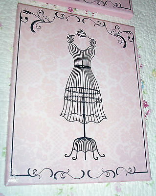 Pink 8x10 Canvas Sign, Shabby, Cottage, French -Vintage Decor-DRESSFORM Wall Art