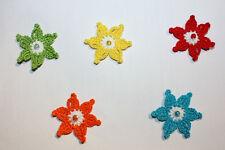 2 Blumen, Häkelblumen, Applikation, Aufnäher, Häkelapplikation, gehäkelt, NEU